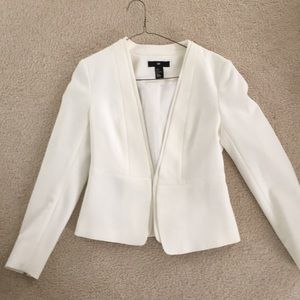 H&M offwhite jacket fitted size 8